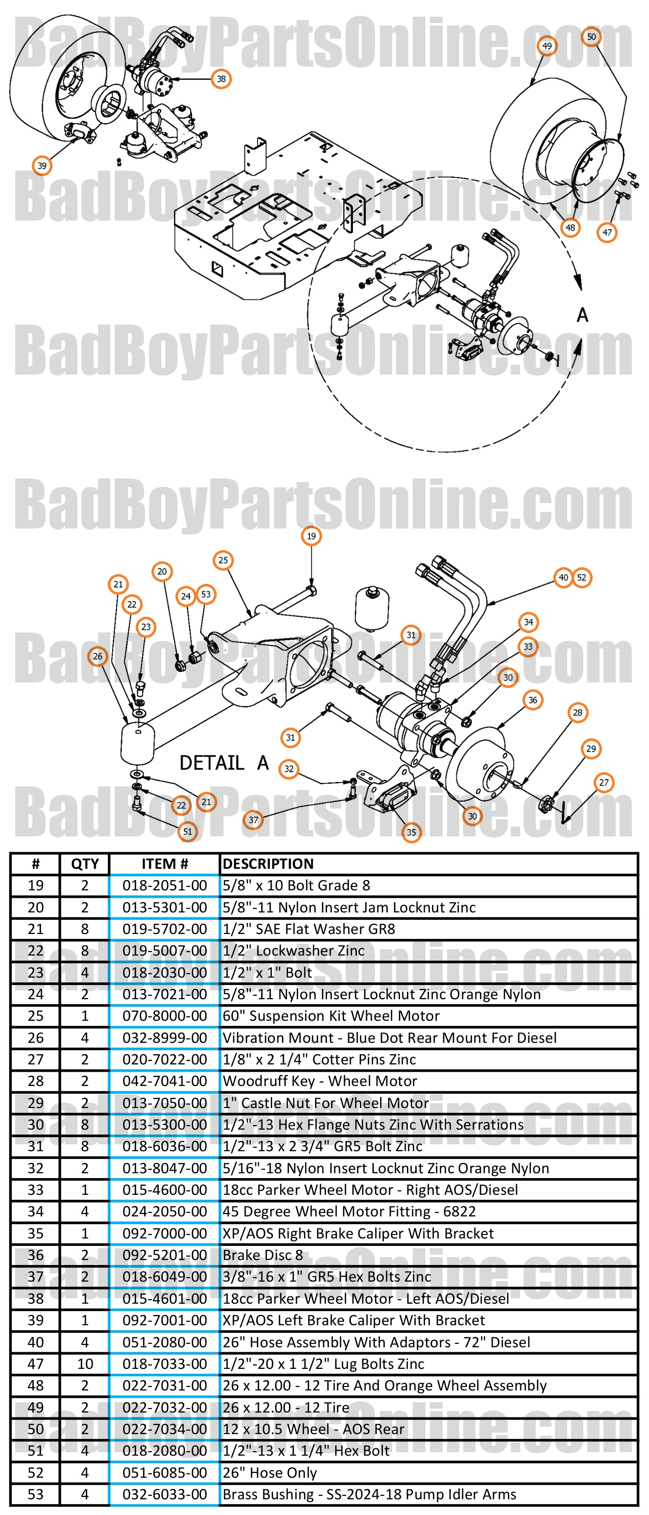 61 Inch Bad Boy Mower Wiring Diagram Electrical Diagrams Buggy Ambush 2017 Compact Diesel Wheel Motors And Rear Suspension Parts Schematic