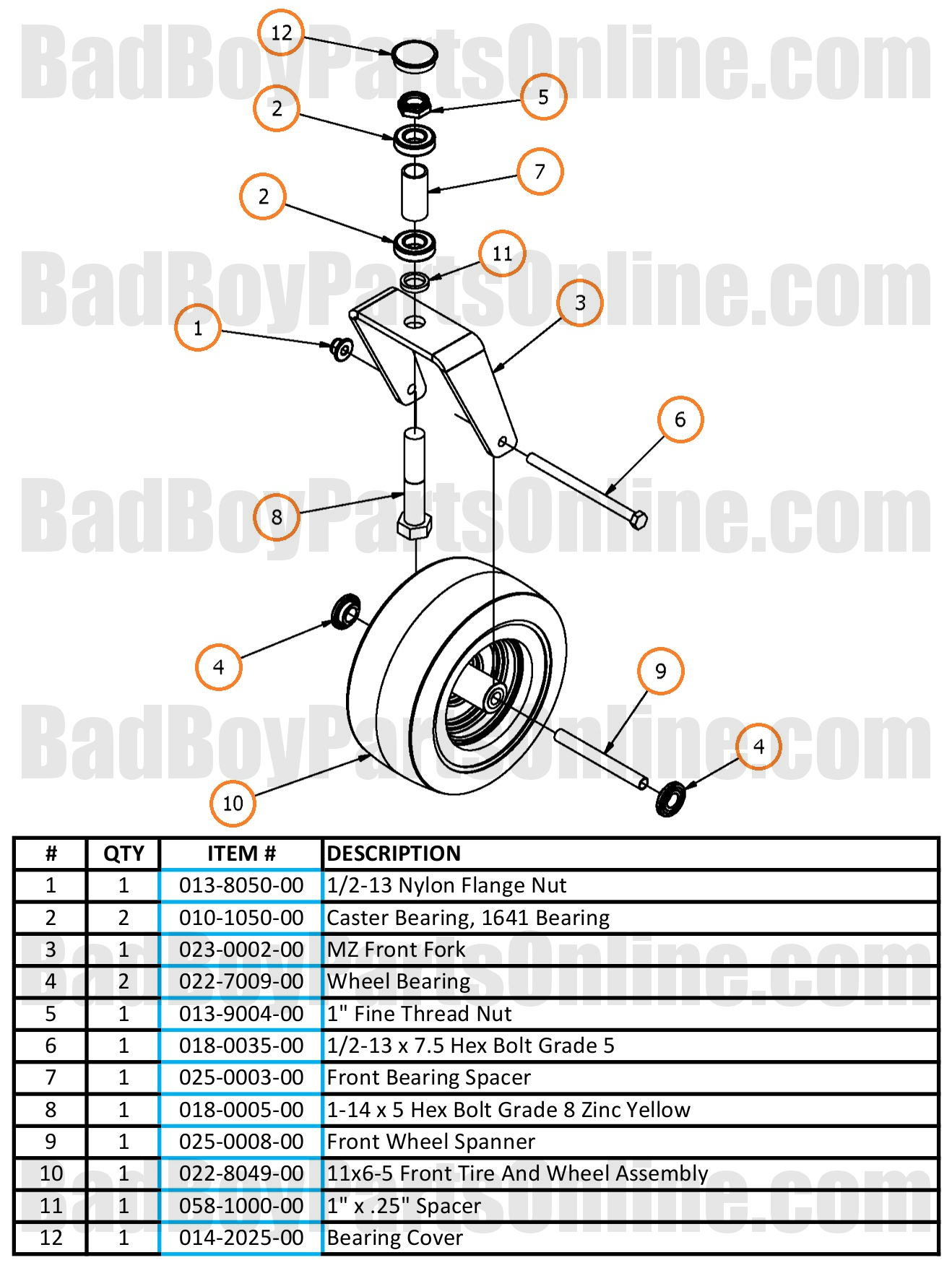 2017 mz and mz magnum front fork parts and schematic. Black Bedroom Furniture Sets. Home Design Ideas