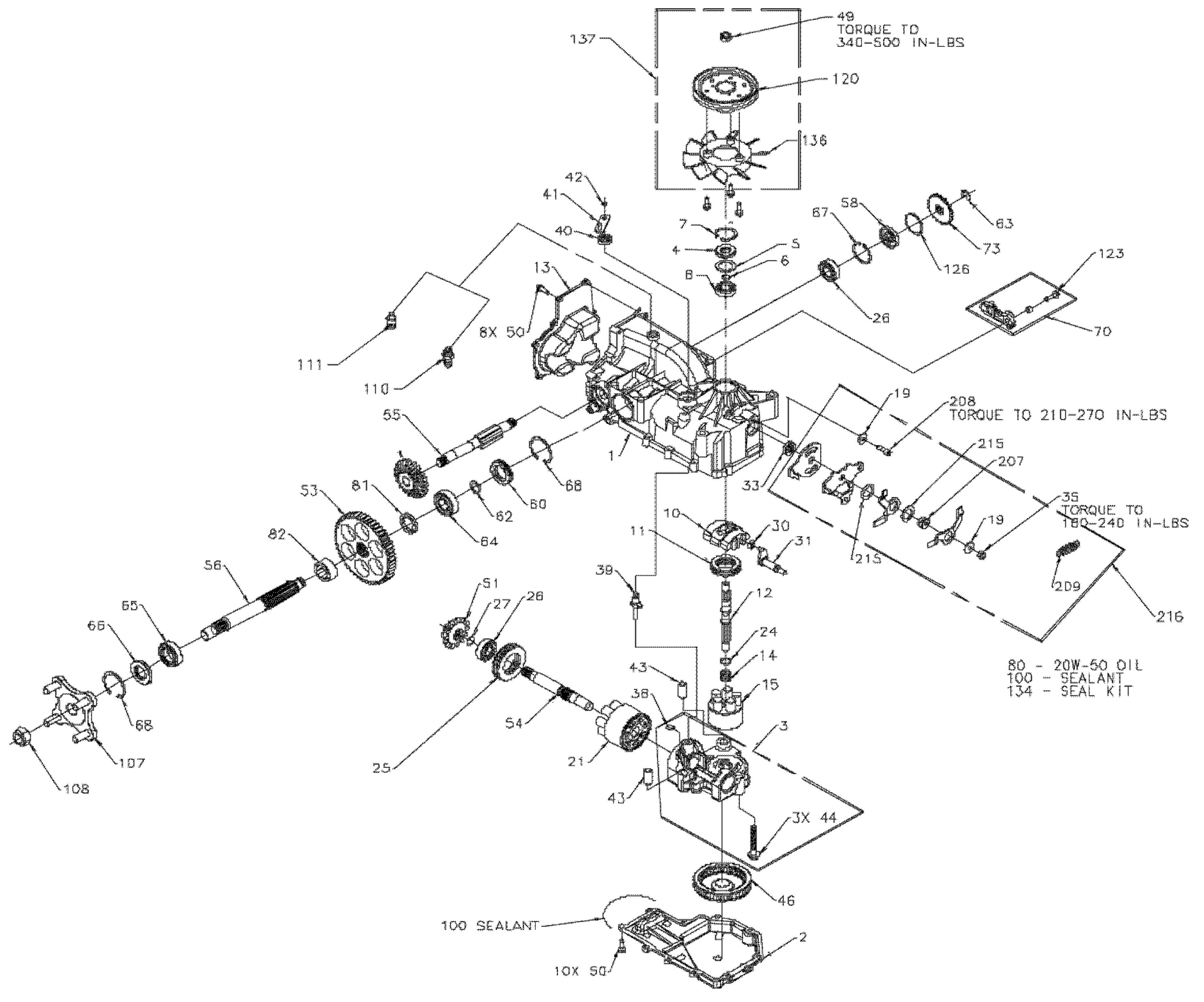Hydrostatic Transaxle  N 001000 And Up