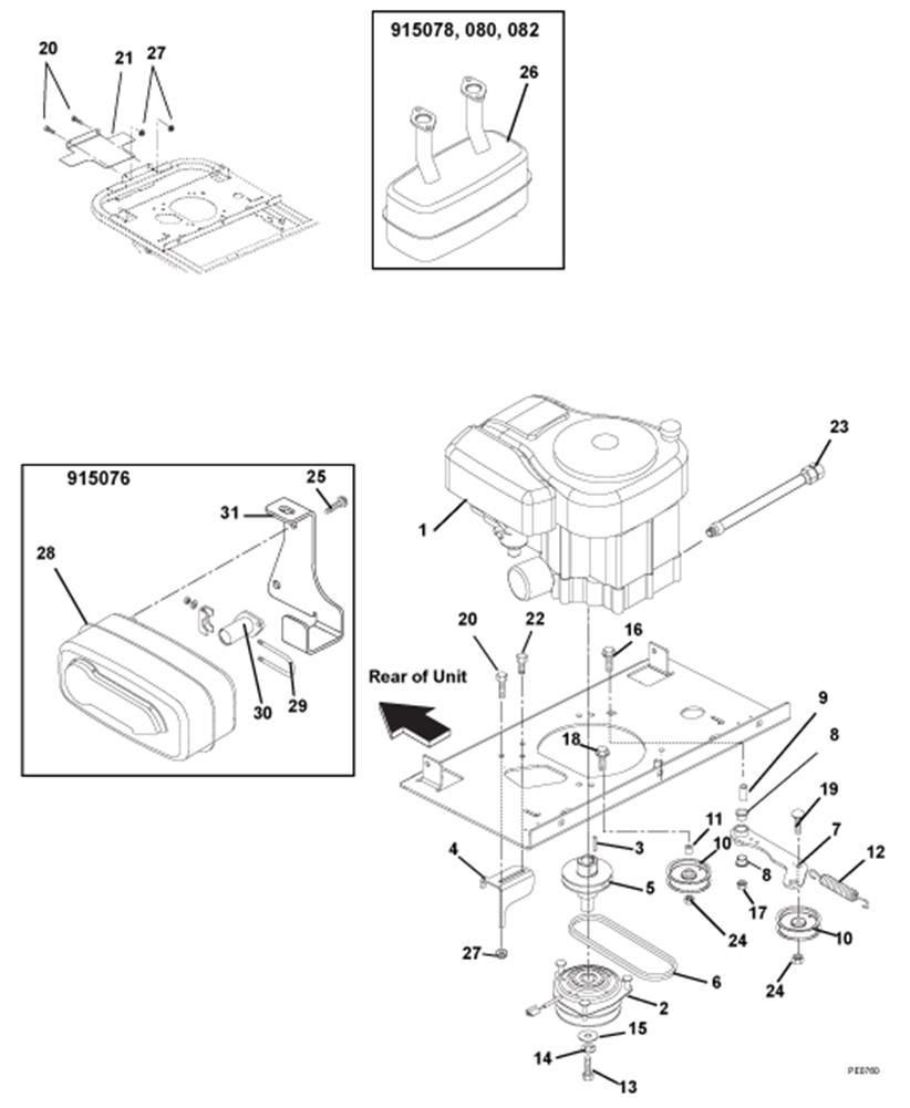 Engine Exhaust Belts And Idlers Diagram